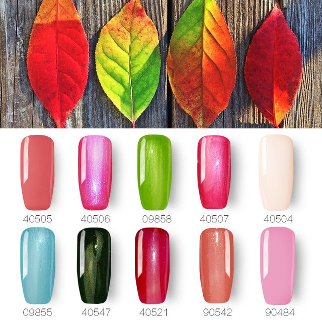 Ibcccndc 10PCS/lot Soak Off Gel Nail Polish 10ml UV LED Gelpolish 79 Colors Vernis Semi Permanent Nail Art Design Gel Varnishes