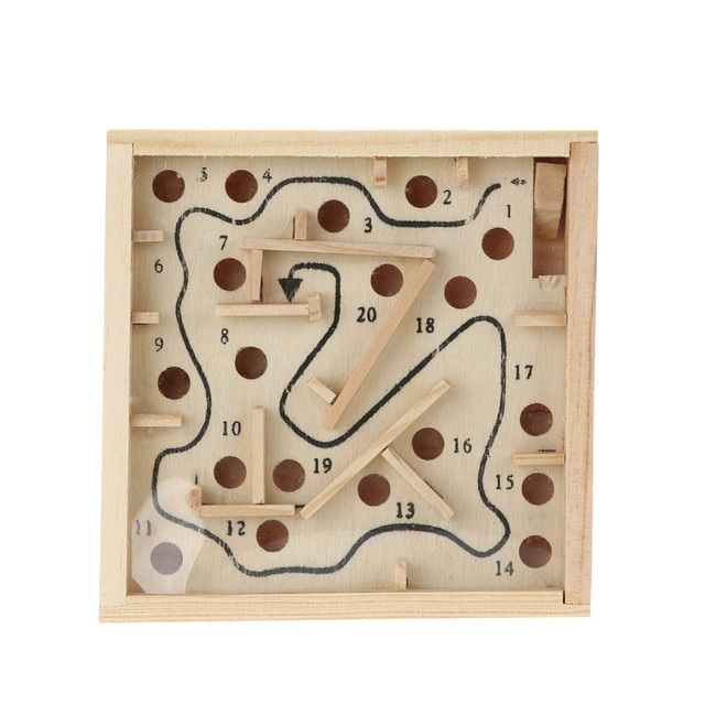 12x12 Ball Maze Games Children Early Educational Wooden Puzzle Toys Kids Brain Teaser Toy Mini Maze Intellectual Development Toy