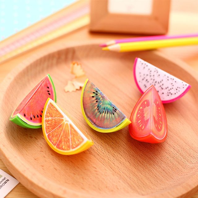 1 x novelty Fruit plastic pencil sharpener pencil cutter knife korean stationery school supplies papelaria