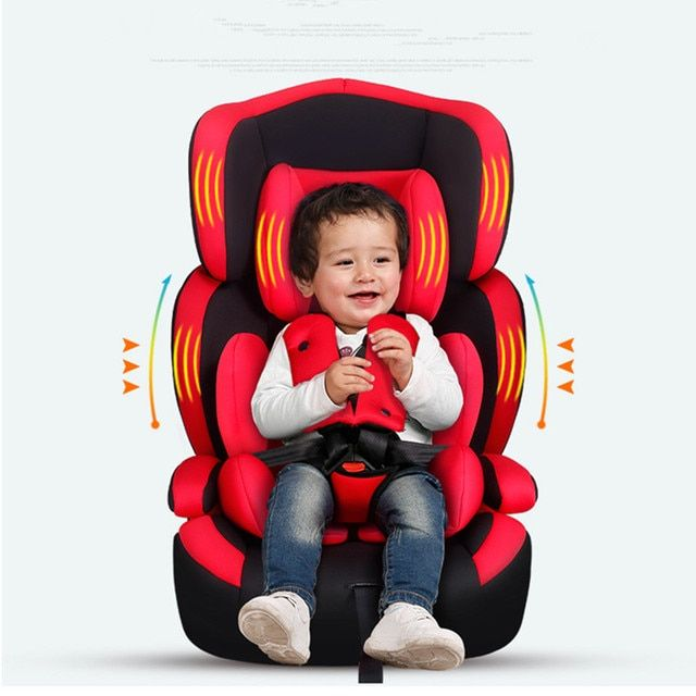 2016 High Quality Baby Car Seat Children Safety Seat Kids Protection 9M-12Y European Standard Auto Booster Chair 5 Colors