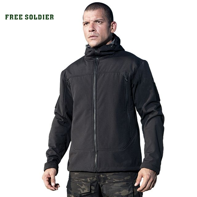 FREE SOLDIER Outdoor sports tactical men's jacket military fleece warmth softshell cloth for camping hiking