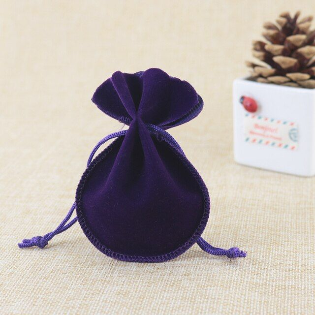 velvet bags jewellery pouches 50pcs/lot 7*9cm small drawstring bags for jewelry necklace earrings rings packaging display