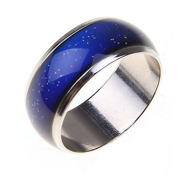 Stainless Ring Changing Color Mood Rings Feeling / Emotion Temperature Ring Wide 6mm Smart Jewelry Factory direct sale CBRL