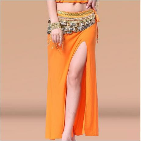 Belly dance costumes senior sexy crystal cotton split  belly dance skirt for women belly dancing skirts