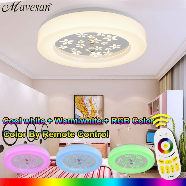 Led Round The Bedroom Balcony Ceiling Lamps Simplicity Modern Led Ceiling Lights For Living Room RGB Ceiling light