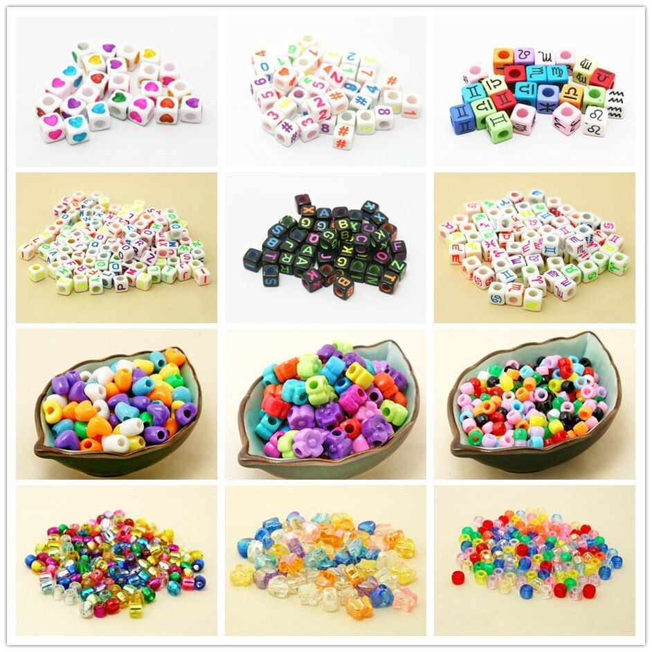 100pcs square acrylic A-Z letters of an alphabet Bead fashion Loom band beads Fit Women DIY Bracelet Bangle Making
