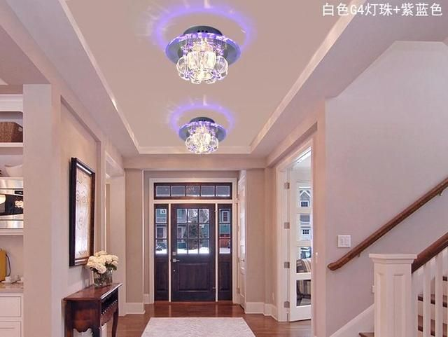 3W Hallway Light Crystal Ceiling Light Fixture With Beautiful Lighting Shadow Guaranteed AC220V-AC240V100%+Free shipping