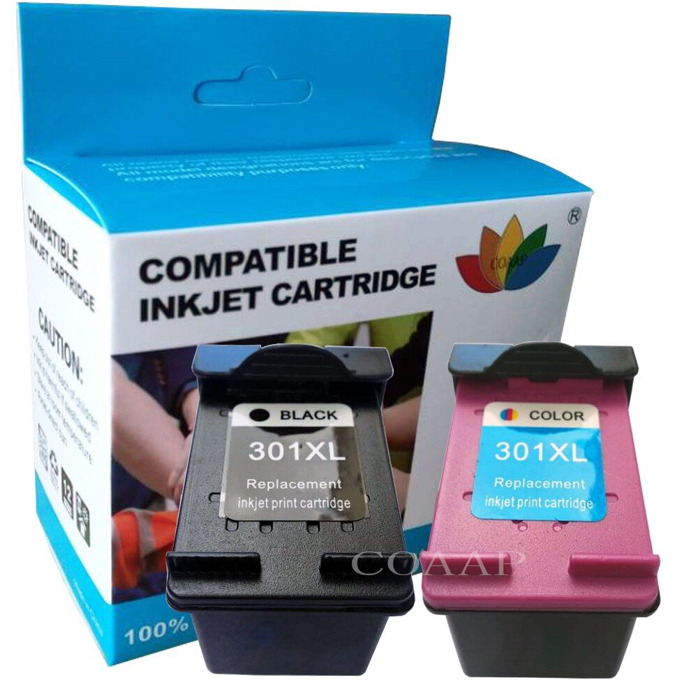 Compatible ink for HP 301 XL HP Deskjet 1000 1010 1050 1050A 2510 2514 2540 2542 2547 Printer,Refilled Ink Cartridge hp301