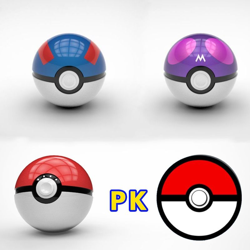 12000mAh Pokeball Go Power bank Pokeball 12000 Mah Powerbank LED Quick Phone Charge Power Bank Cartoon 3D External Battery