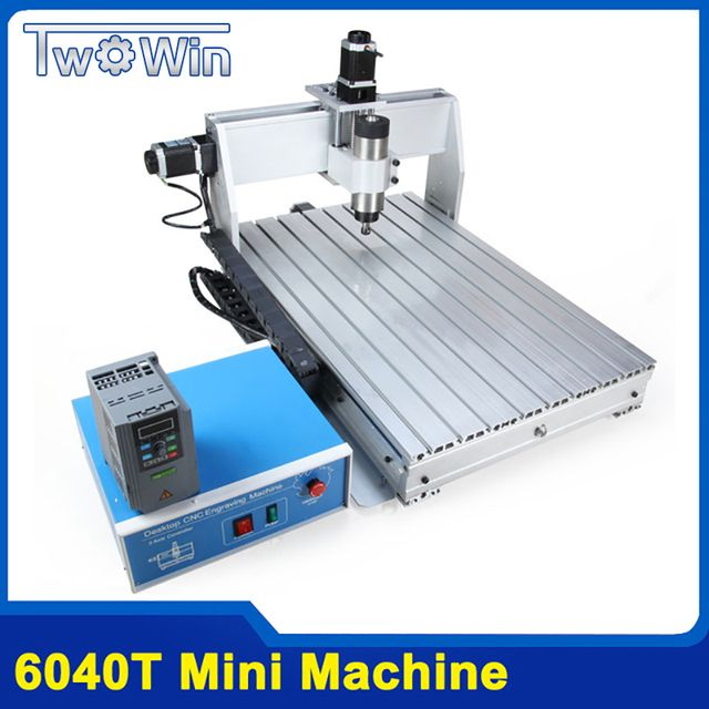 800W CNC 6040 Three-axis CNC Router Engraver Engraving Milling Drilling Cutting Machine +Control box+Inverter