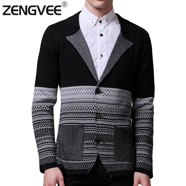 2017 Fashion Autumn Mens Sweaters Male V neck Winter Warm Cardigan Knitwear Sweater Slim Casual Brand Masculino