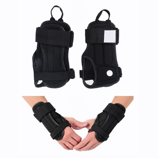 1Pair Sports Palm Wrist Guard Brace Protective Gear Hand Protectors Gloves Armguard for Snowboard Skiing Skating Lifting