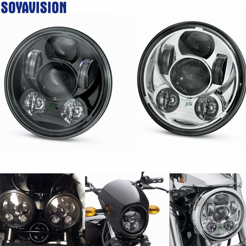 "For Rocket III Harley Street 750 ,For harley xl883, 1200,48, For Harley 5-3/4"" 5.75"" Motorcycle Projector LED Front Headlight"