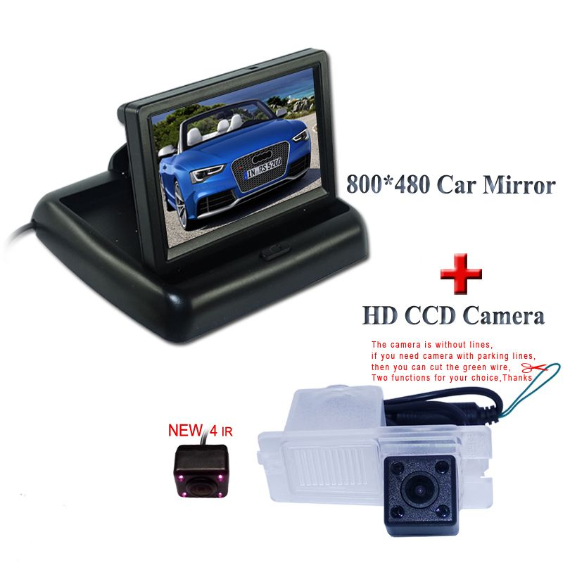 "Car rear  Monitor 4.3""TFT Screen Car Rear View  Camera for SsangYong Actyon Korando Rexton"