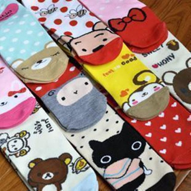 Korea cute cartoon socks winter Autumn socks couple cartoon socks factory wholesale free shipping 12pair/lot