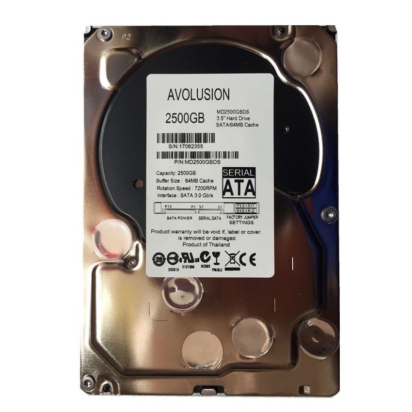 2500GB SATA 3.5inch 7200RPM 64MB Cache Enterprise Grade Security CCTV Hard Drive Warranty for 1-year