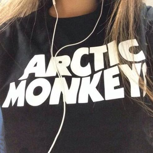 Rock Music Band Arctic Monkeys Letter Tee Shirts 2016 Summer Women Lettering Print T-shirt Swag Harajuku Female Printed Tshirt