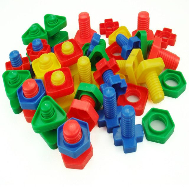 Jumbo Nuts and Bolts Set  - Occupational Therapy - Matching Fine Motor Toy for Toddlers Preschoolers