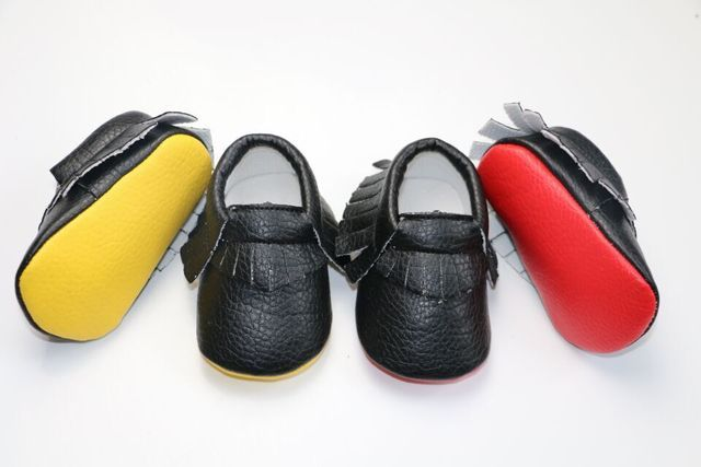 Hongteya Red sole PU Leather baby Moccasins Newborn baby Girl shoes Fringe Bebe Soft bottom Footwear Crib Shoes for 0-24M