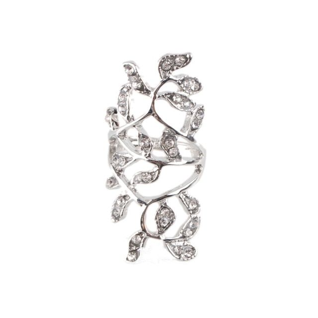 New Design Gold Silver Plated Fashion Ring Noble Luxury Elegant Charm Zircon Flower Crystal Rings RING-0349