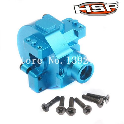 RC HSP 122075 Blue Aluminum Gear Box With Screw*11 02051 1/10th Electric Nitro Upgrade Parts Buggy Truck Truggy