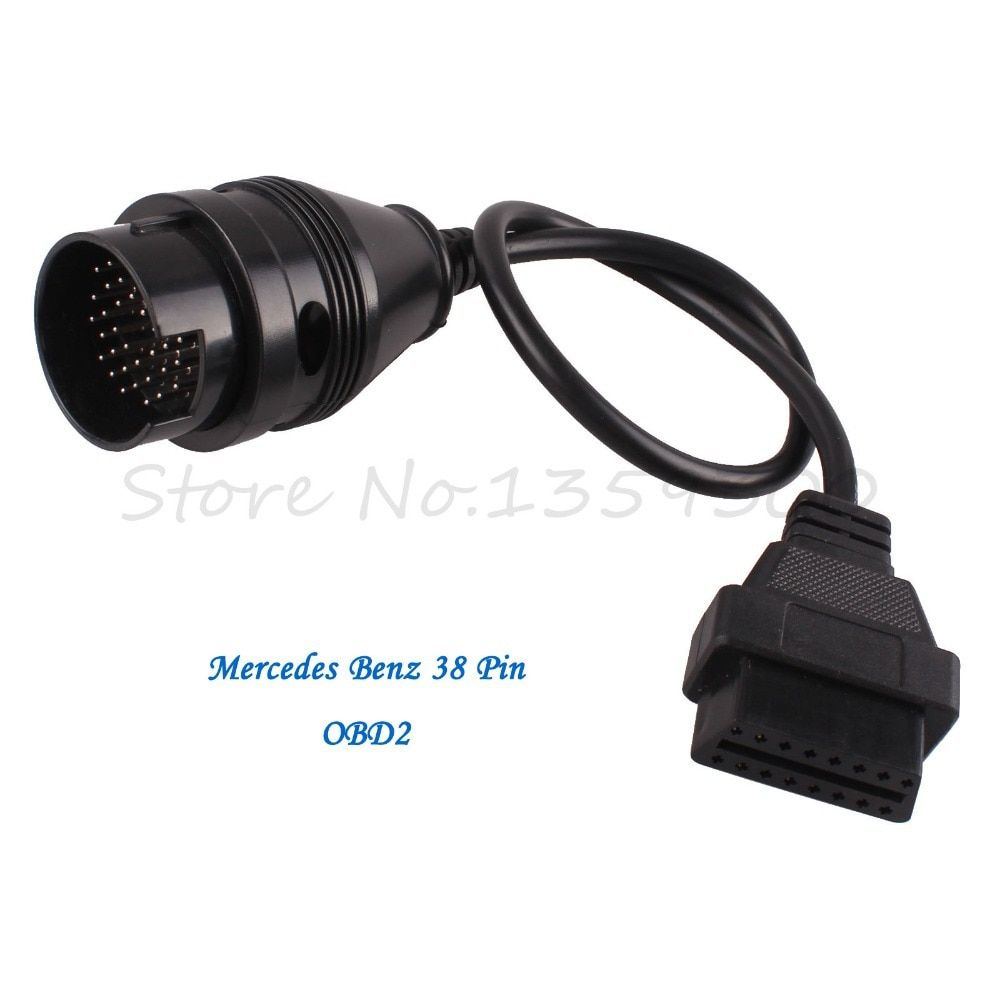 For Benz MB 38 Pin 38Pin Male To OBD OBD2 OBDII DLC 16 Pin 16Pin Female Car Diagnostic Tool Adapter Converter Cable