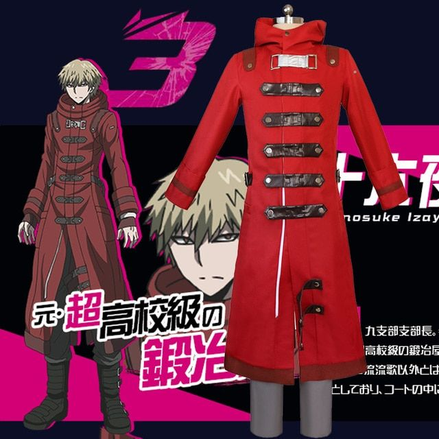 Anime DANGANRONPA 3 Izayoi Sounosuke Cosplay Costume Halloween Uniform Outfit Coat+Pants Custom-made