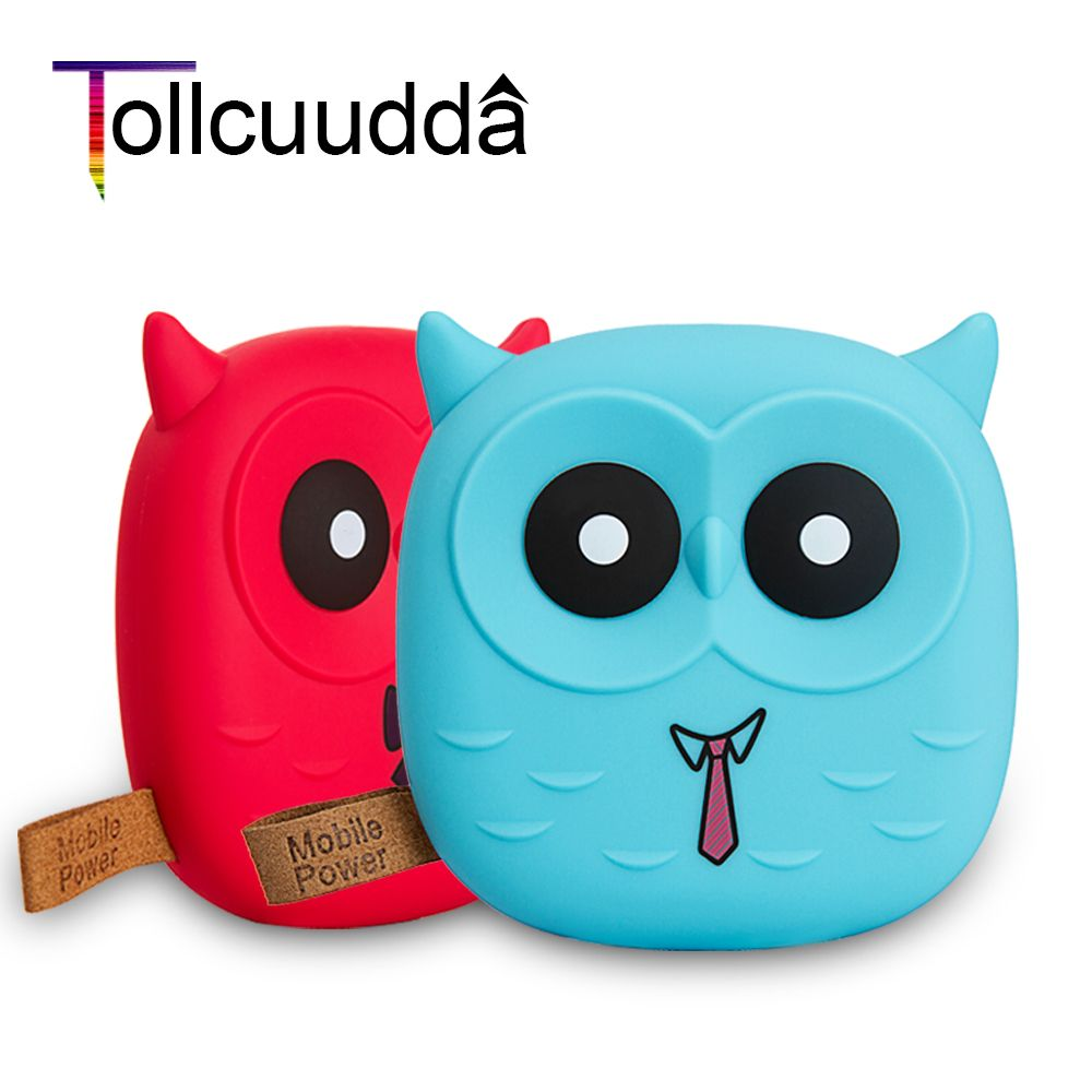 Tollcuudda 18650 Power Bank 5000mAh External Battery Cute Cartoon Owl Bank Portable Charger Powerbank For Xiaomi Smart Phone