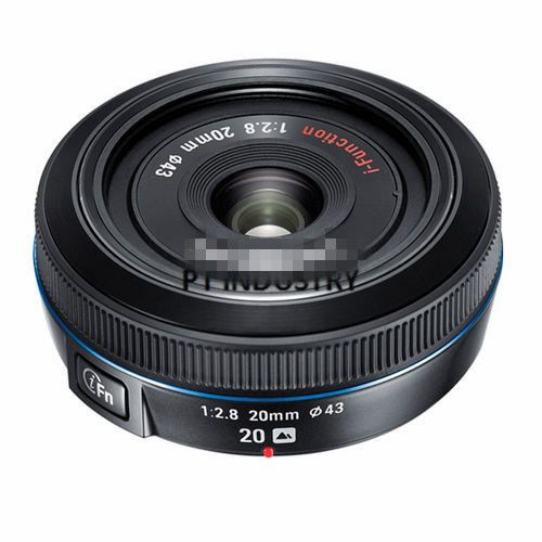 Free Shipping!100% Original NX 20mm f/2.8 i-function Black Lens For Samsung NX1 NX30 NX500 NX300 NX3000