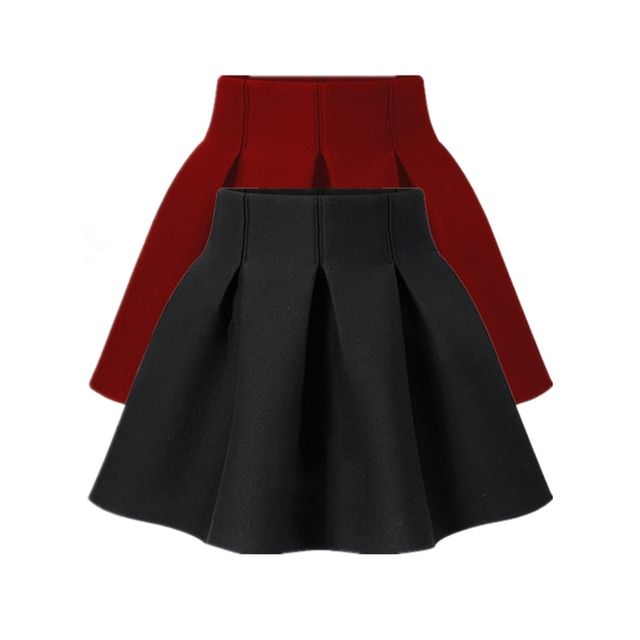 New 2016 Spring And Autumn Womens Ball Gown Skirt Black Puff Skirt High Waist Short Skirt Plus Size Bust Skirt For Woman