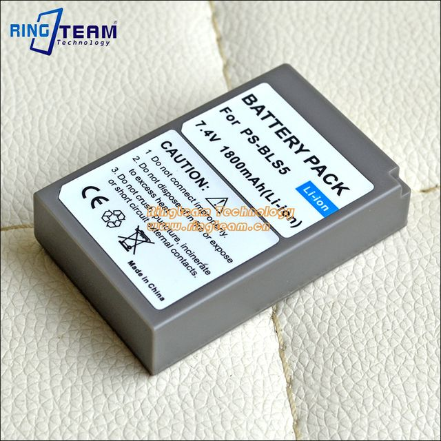 BLS-50 BLS-5 PS-BLS5 Battery for Olympus Digital Cameras PEN E-PL2 E-PL5 E-PM2 Stylus 1 1s OM-D E-M10 E-M10 Mark II