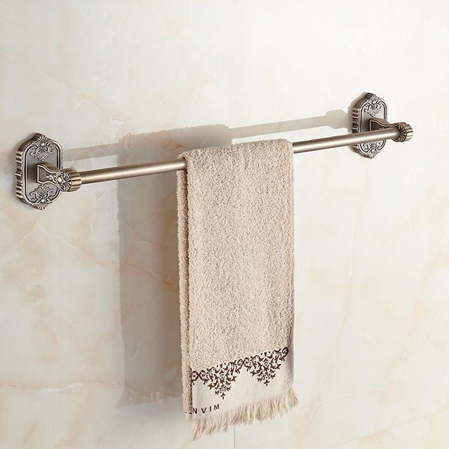 Towel Bars Luxury Wall Mounted Golden Single Towel Bar Solid Brass Bathroom Accessories Wall Mounted Towel Holder 3310