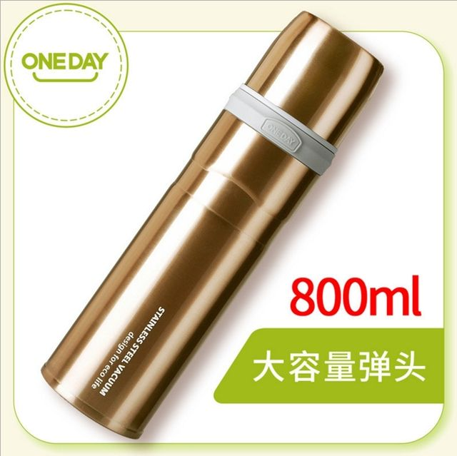 ORIGINAL ONEDAY 800ML STAINLESS STEEL VACUUM FLASK OURDOOR CAR TRAVEL STRAIGHT THERMOS HIGH QUALITY WITH CLOTH BAG THERMOSES
