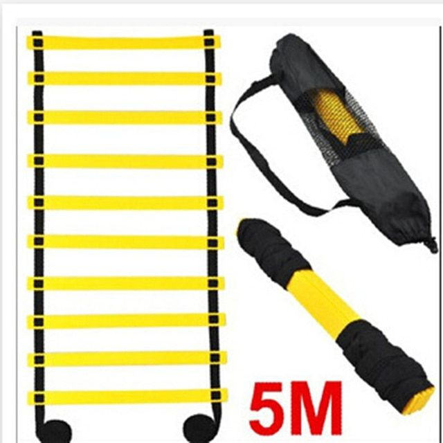 Agility Ladder Soccer Training Equipment 5 M 9 Rung Athletics Football Ladder Rope-ladder