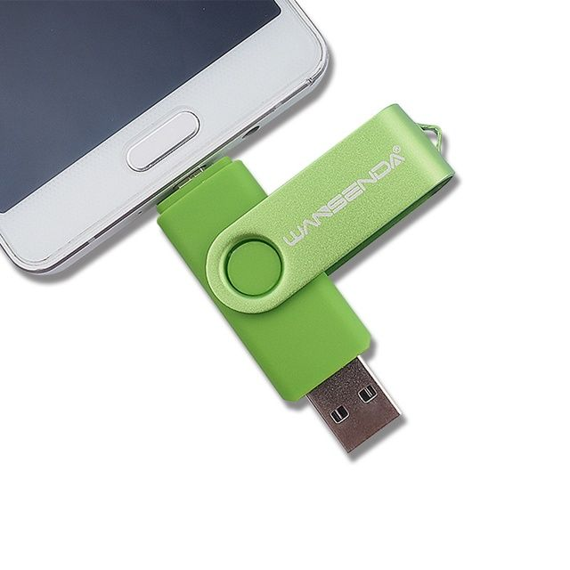 Wansenda Two-side mobile phone USB Flash Drive 128gb 64gb usb 32gb pen drive 16gb OTG usb memory stick 4gb 8gb Usb 2.0 pendrive