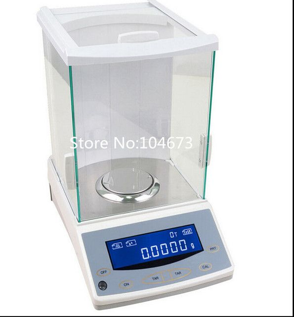 120 x 0.0001g Analytical Balance Lab Digital Scale Range 120g Precison 0.1mg RS232C fast shipping