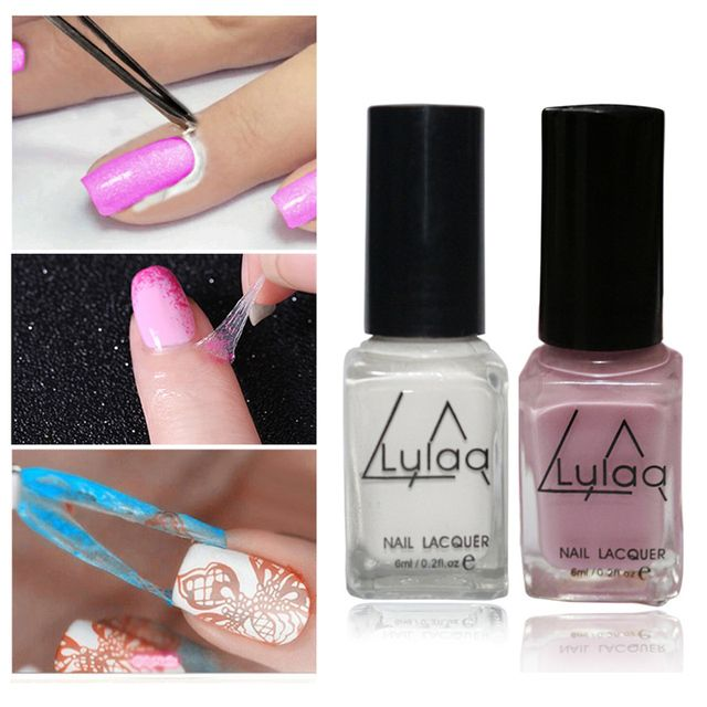 1pcs New Brand LULAA Nail Art Decoration Base Coat White Skin Protected Glue Liquid Peel Off Tape Latex Nail Polish