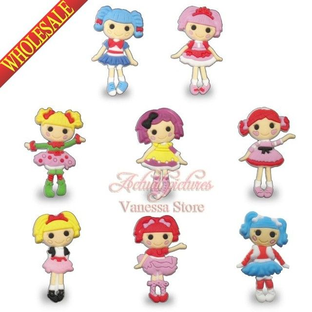 Single sale Lalaloopsy PVC Pins button badges brooches collection Kid's Gift DIY charms fit Clothes Bags children girls  gifts