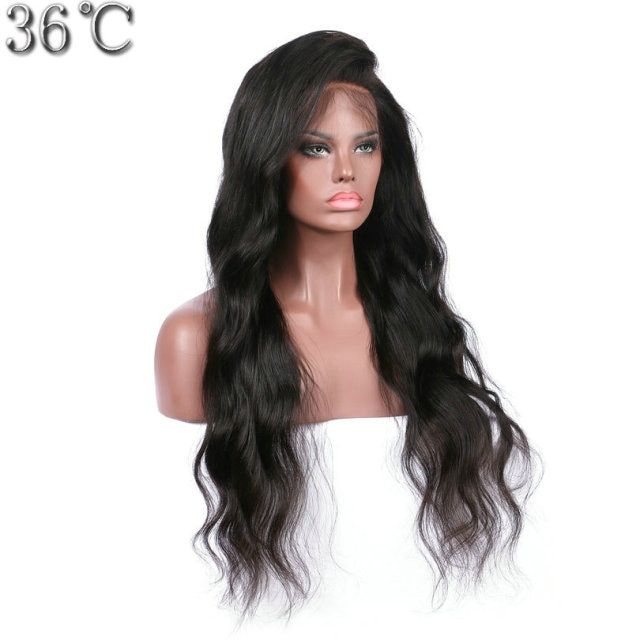 36C Body Wave Silk Base Full Lace Wig Brazlian Remy Hair Natural Color Side Part Human Hair Wig With Baby Hair Black Women
