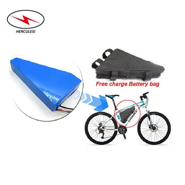 with 50A BMS + 2A Charger + Triangle Bag 1500W 2400W Lithium Battery E-Bike 48V 20Ah Li Ion Battery use 18650 S amsung 30Q Cell