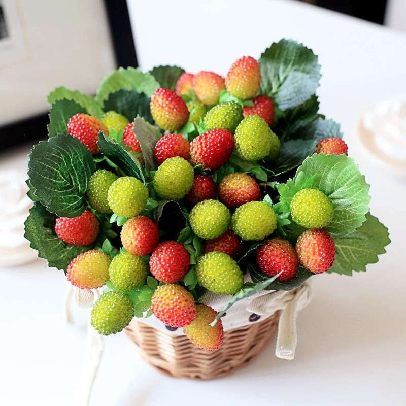 9 small fruit decoration flower artificial fruit paddle strawberry photo props Artificial plant