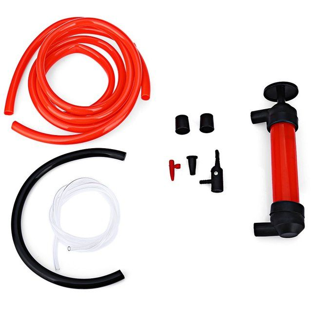 2016 Car styling Portable Car Siphon Hose Liquid Oil Gas Water Transfer Hand Pump Sucker Plastic Pipe Manually Pump The Liquid