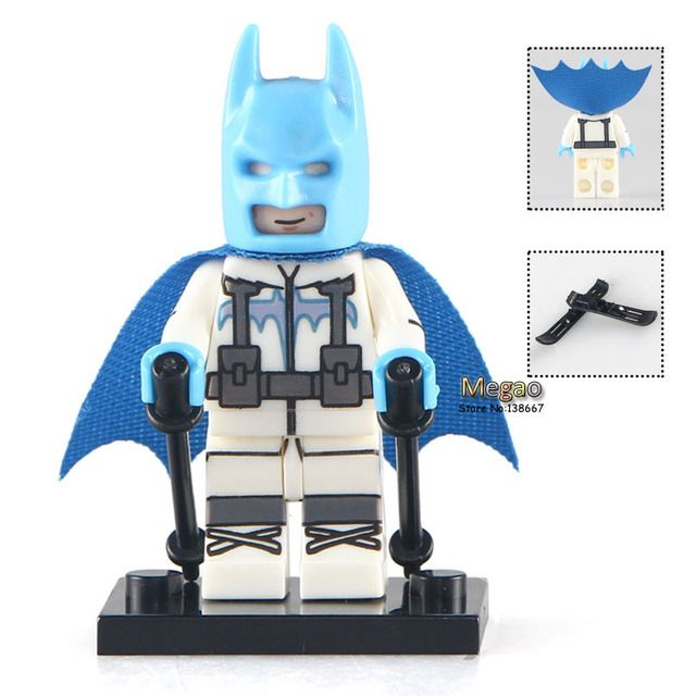 Building Bricks Single Sale PG179 Batman with Ski Suit DC Super Heroes Batman Blocks Movies Toys for Children PG8047