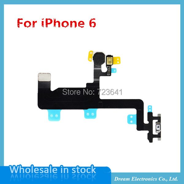 "MXHOBIC 10pcs/lot  Power Flex Cable for iPhone 6 6G 4.7"" Switch On Off Sensor Proximity Ribbon Replacement parts free shipping"