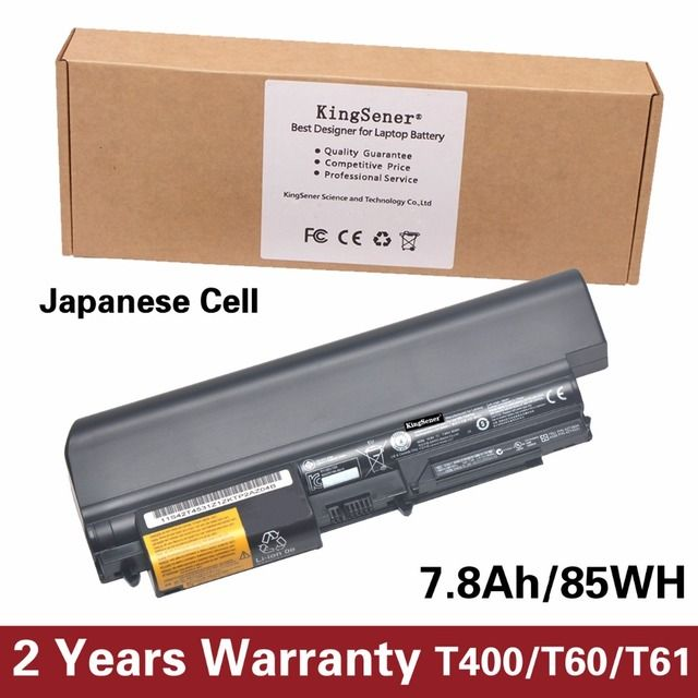 "KingSener Korea Cell New Battery for Lenovo ThinkPad T400 R400 T61 T61p R61 R61i 14"" 42T4644 42T4531 42T4677 42T5232 10.8V 85WH"