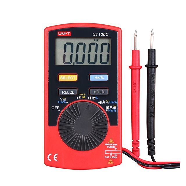 Professional Pocket Size Digital Multimeters UNI-T UT120C Auto Range Multitester AC/DC Current Voltage Meter Testers Multimetro
