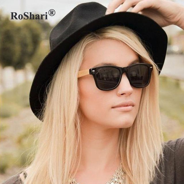 Vintage Bamboo Wood Sunglasses Women men Brand Designer Retro sun glasses for men UV400 oculos de sol feminino for drop shipping