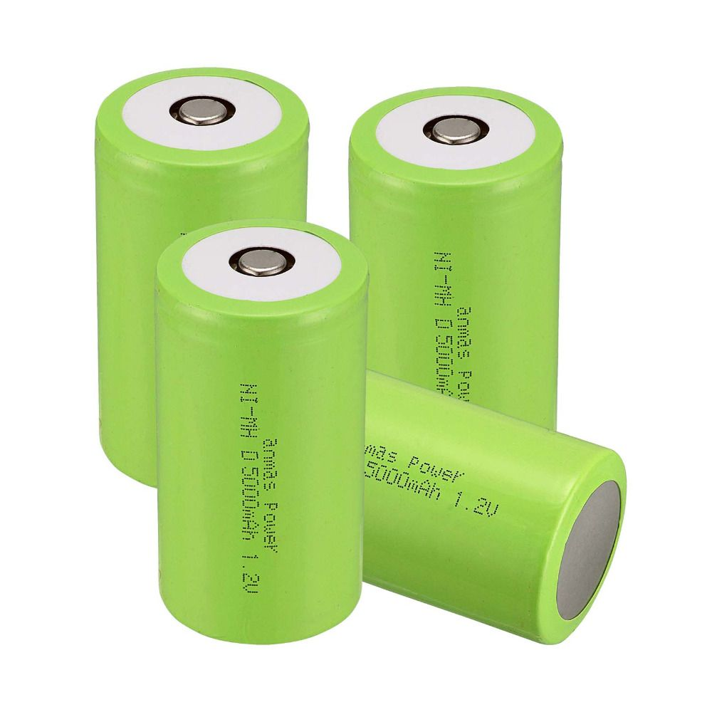 000 Anmas power! Green Color  New Arrival ! 4 PCS D Size 5000 mAh 1.2 V  NI-MH Rechargeable Battery