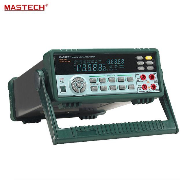 MASTECH MS8050 High-Precision Bench Digital multimeter DCV0.03% Ture RMS VFD 53000 1uV 0.1ohm USB for R & D + measure + Lab