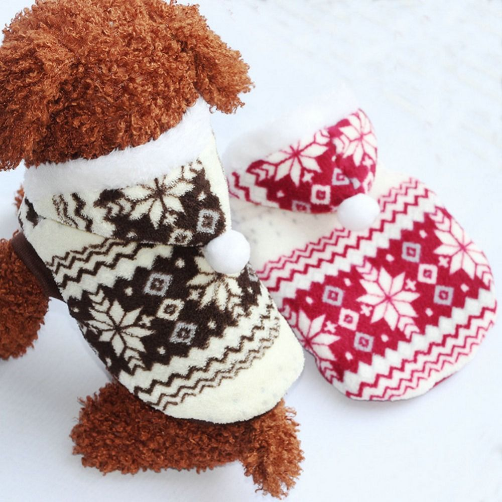2018 New Pets Dog Winter Coat Fleece Snowflake Printed Dog Puppy Cat Clothes Appral Jacket